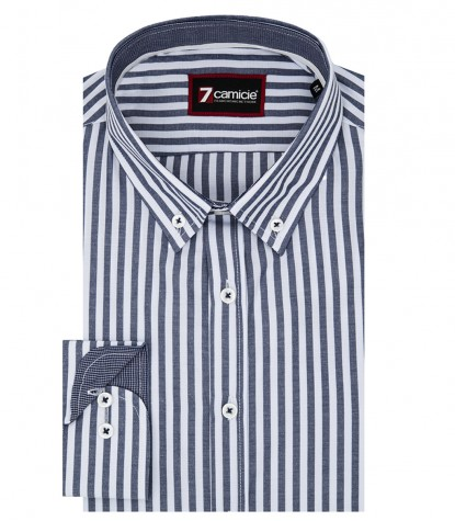 Shirt Leonardo Cotton Blue White