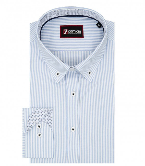 Shirt Leonardo Oxford White Light Blue
