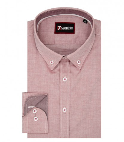 Camicia Leonardo Super oxford Bordeaux