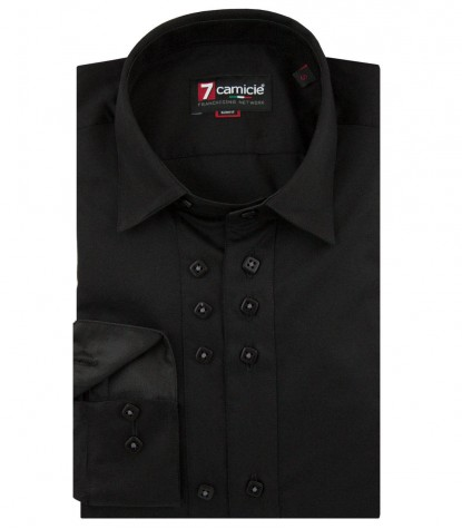 Shirt Raffaello Satin Black