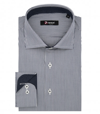 Shirt Firenze Poplin White and Blue