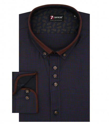 Shirt Leonardo jacquard Brown Bluette
