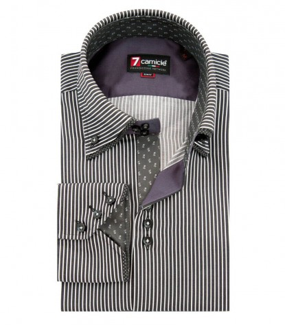 Shirt Colosseo Satin BlackWhite