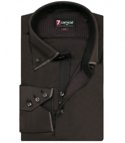 Camicia Colosseo Satin Marrone