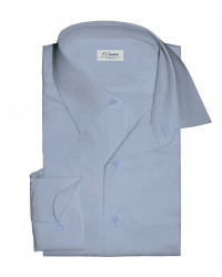 1 Button Italian Collar Man Shirt Slim Fit