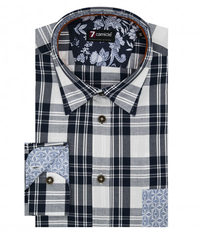 Camicia Leonardo Super oxford BluBianco