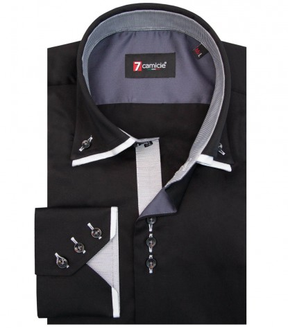 Shirt Colosseo Satin Black