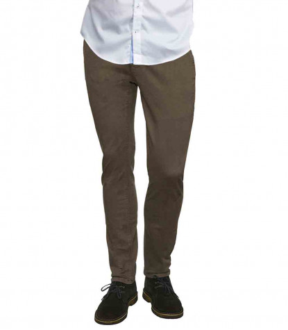 Men's Beige Twill Chinos Trousers