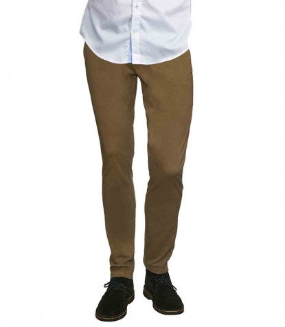 Turtledove Brown Twill Chinos Trousers