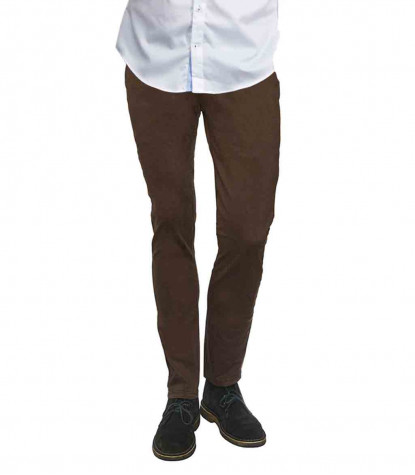 Men's Brown Twill Chinos Trousers