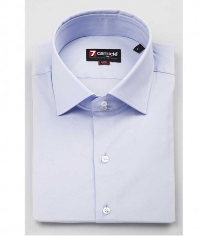 Shirt Firenze Popeline Stretch Light Blue