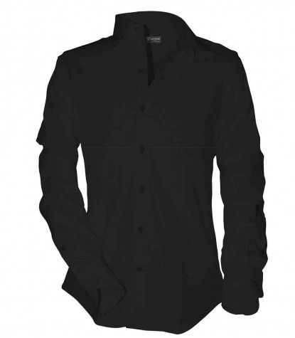 Shirt Romeo Cotton Polyester Black
