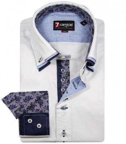 Shirt Vesuvio Satin White
