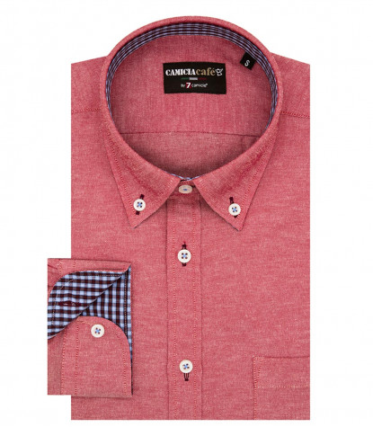 Shirt Leonardo Cotton Polyester Dk Red