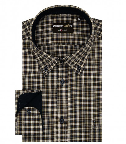 Shirt Leonardo Cotton Polyester Blue Dk Grey