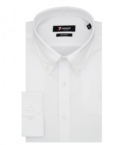 Camicia Leonardo Super oxford Bianco