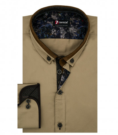 Shirt Leonardo Satin Burnt Brown