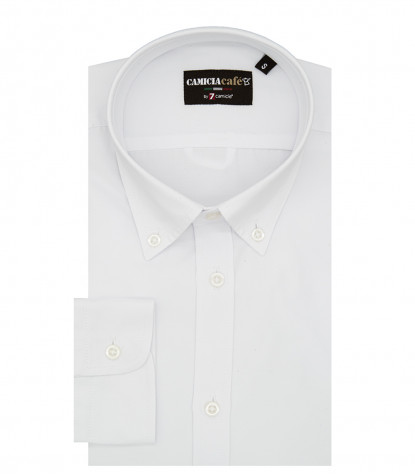 Shirt Leonardo Cotton Polyester White