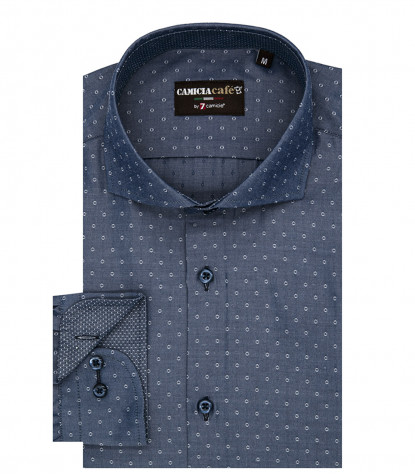 Shirt Firenze Cotton Polyester Blue