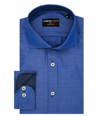 Shirt Firenze Cotton Polyester Ink Blue