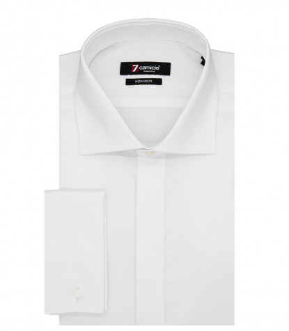 Shirt Men 1 Button full color White
