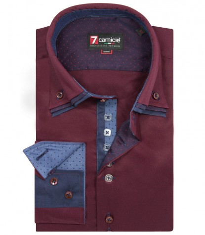 Shirt Vesuvio Satin Red Bordeaux