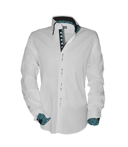 2 buttons button-down hidden buttoning double collar