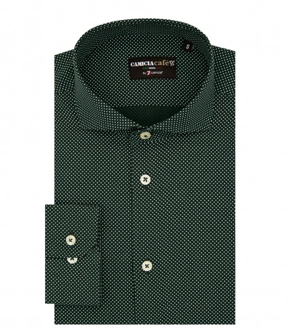 Shirt Firenze Cotton Polyester Green and White