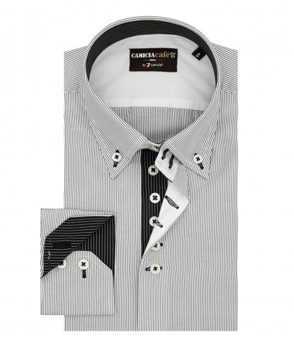 Shirt Roma Cotton Polyester White Black