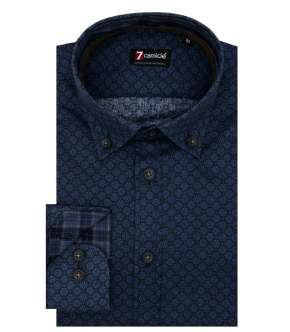 Camicia Leonardo Super oxford Blu Blu Avion