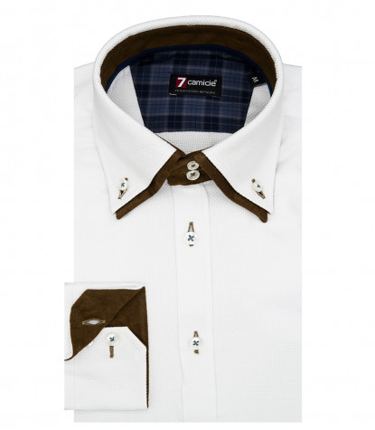 Shirt Marco Polo Weaved White and White