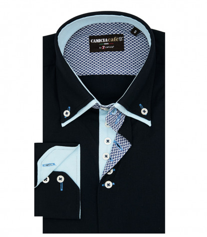 Shirt Marco Polo Cotton Polyester Blue