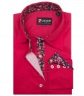 Shirt Beatrice stretch poplin Fuchsia