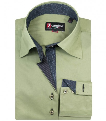Shirt Beatrice stretch poplin Military Green