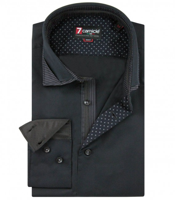 Shirt Lorenzo Satin Black