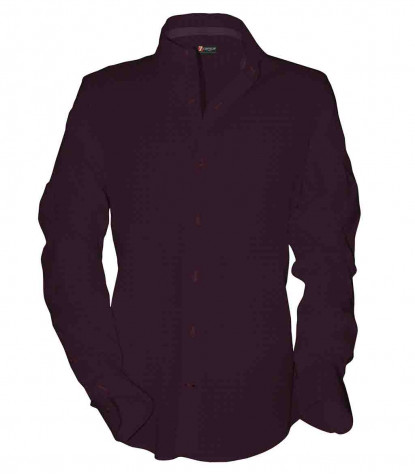Camicia Uomo 1 Bottone Francese Slim Satin fantasia Bordeaux/Blu