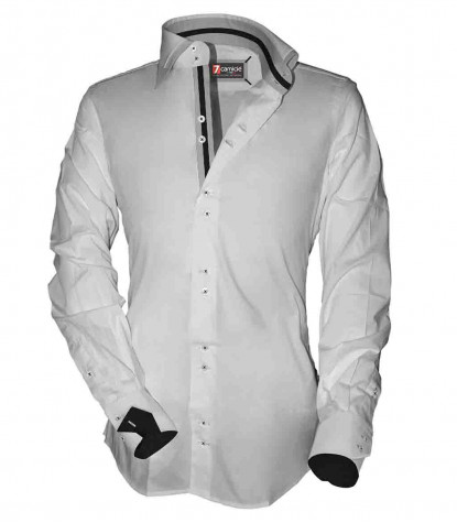 2 buttons double french collar slim man shirt