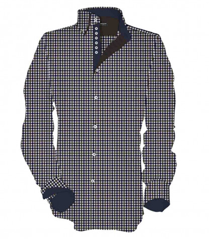 1 button button-down double collar kid shirt Oxford Medium Square