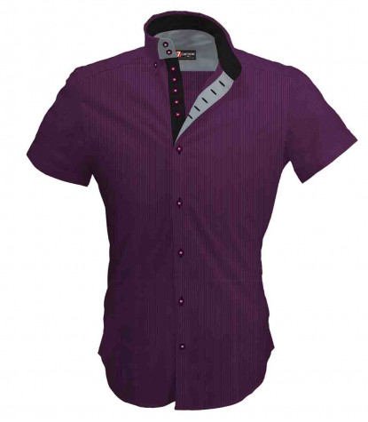 2 buttons button-down 7buttons man shirt with short sleeves