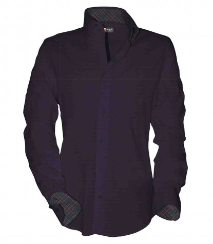 2buttons button-down slim man shirt Fancy Jacquard Bordeauxlack