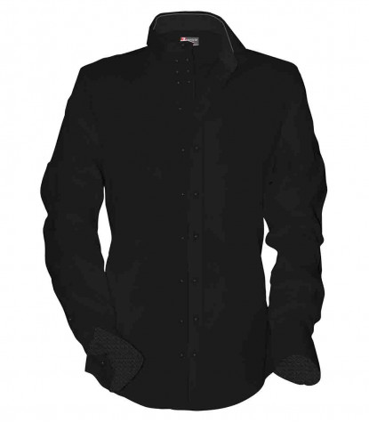 1 Button Soft Collar With Double Front Buttoning
