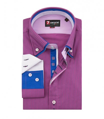 Shirt Marco Polo Violet CyclamenBlue