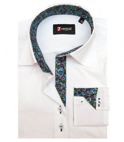 Camicia Beatrice Popeline stretch Bianco