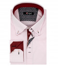 Chemise Homme 2 Boutons Bdwn Satin Rose