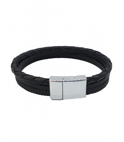 Triple Bracelet Plain Black