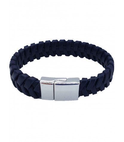 Clips Braided Bracelet Plain Blue