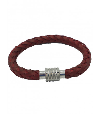 Clips Braided Bracelet Plain Red