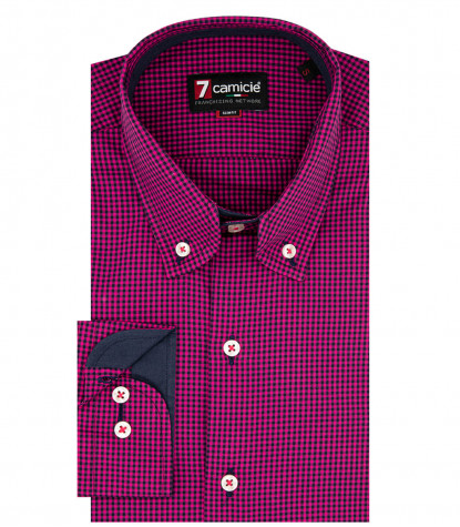 1 button button-down rounded collar slim fit man shirt