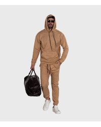 Suit Man Complete Suede Solid Color Beige