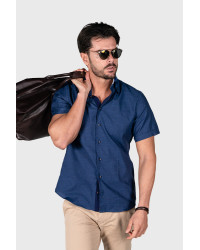 Shirt Vesuvio Cotton Light Blue